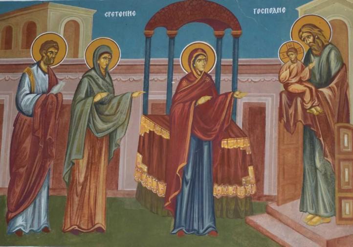 Сретение Господне - стенопис